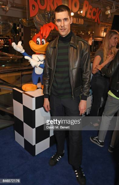 Clym Evernden attends the launch of the House of Holland x Woody Woodpecker London Fashion Week pop up at Fenwick Of Bond Street on September 13 2017...