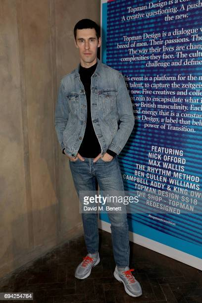Clym Evernden attends 'TOPMAN DESIGN Presents Transition' for LFWM at The Truman Brewery on June 9 2017 in London England