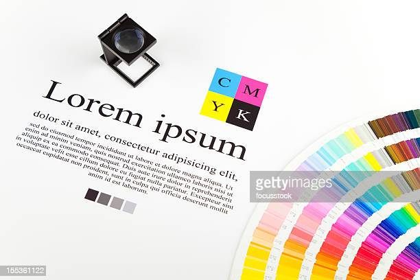 A cmyk color guide and paper template