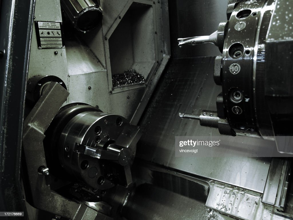 cnc lathe workspace