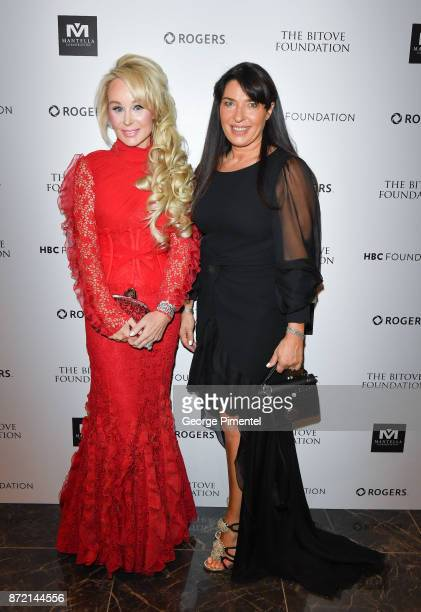 Co Chair Suzanne Rogers and CEO of Giambattista Valli Sandrine Valverde attend the HBC Foundation presentation of Haute Affair in support of the...