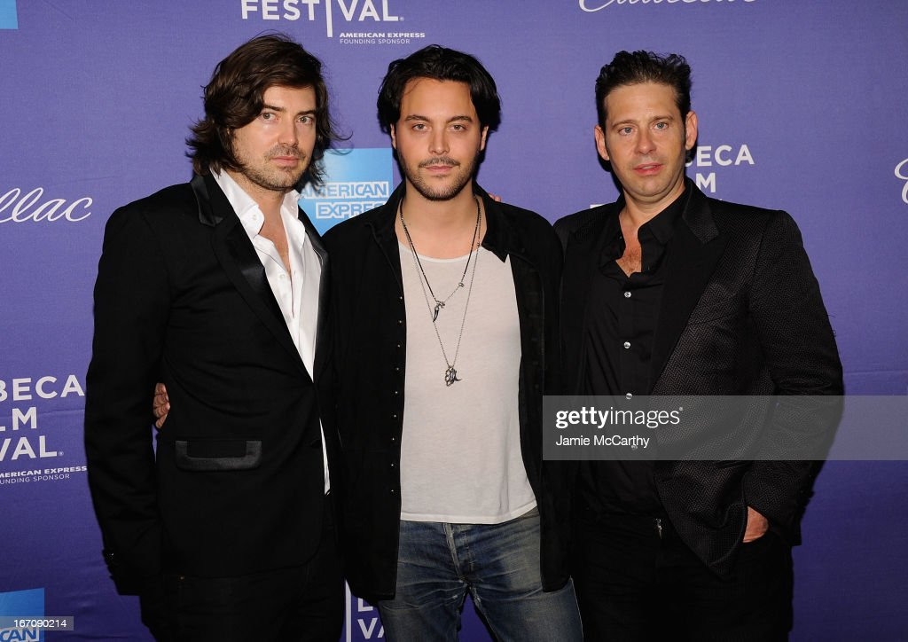 Co director Victor Kubicek, <a gi-track='captionPersonalityLinkClicked' href=/galleries/search?phrase=Jack+Huston&family=editorial&specificpeople=839493 ng-click='$event.stopPropagation()'>Jack Huston</a> and co director Derek Anderson attend the screening of 'In God We Trust' during the 2013 Tribeca Film Festival at SVA Theater on April 19, 2013 in New York City.