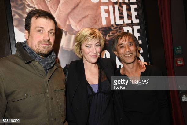 Co Director Yann Coridian Co director/actress Valeria Bruni Tedeschi and Choreographer Thierry Thieu Niang attend 'Une jeune Fille de 90 Ans' Paris...