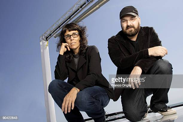 Co directors Daniela Thomas and Felipe Hirsh from the film 'Sunstroke' poses for a portrait session at the Nastro Azzurro Terrace during the 66th...