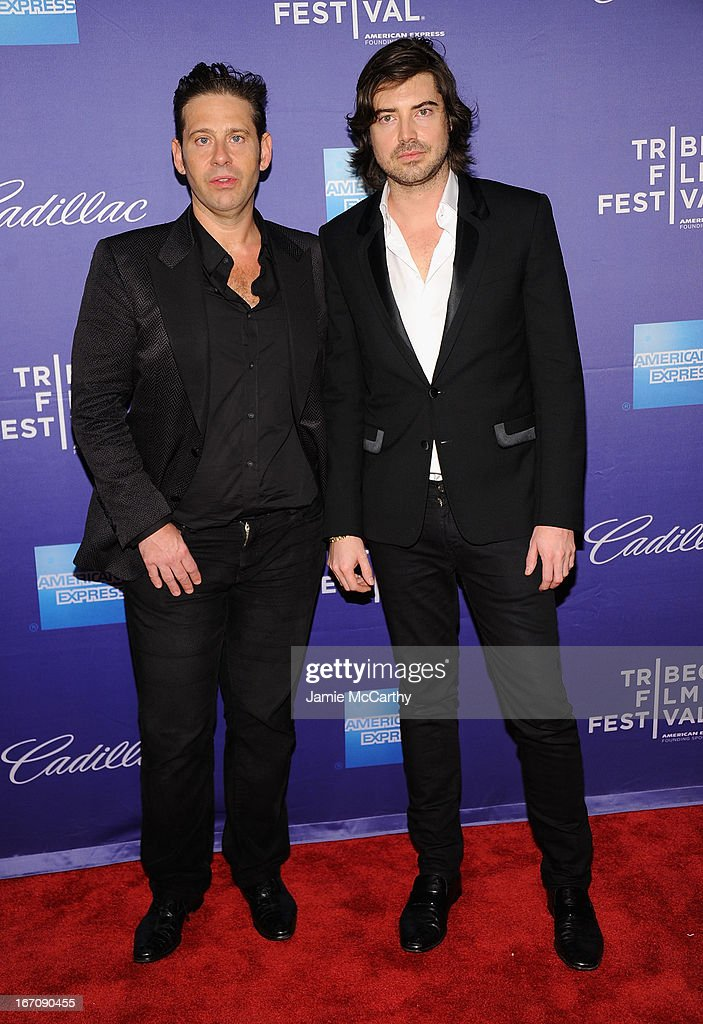 Co directors Derek Anderson and Victor Kubicek attend the screening of 'In God We Trust' during the 2013 Tribeca Film Festival at SVA Theater on April 19, 2013 in New York City.