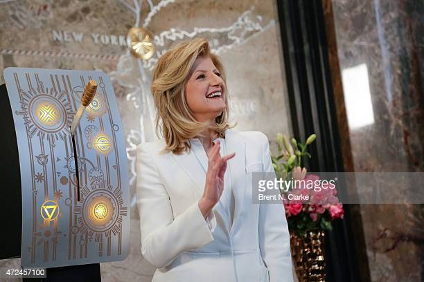 Co founder/editorin chief of The Huffington Post Arianna Huffington attends the lighting of The Empire State Building in celebration of The...