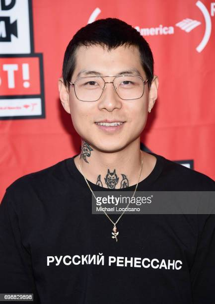 Co Owner and CoFounder of Mission Burger and Mission Chinese Danny Bowien arrives at EAT Food Film Fest at Bryant Park on June 20 2017 in New York...