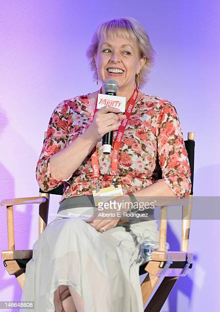 Co Owner Founder Defining Artists Agency Associate Pastor Entertainment Ministries Bel Air Presbyterian Church Kim DorrTilley speaks during the...
