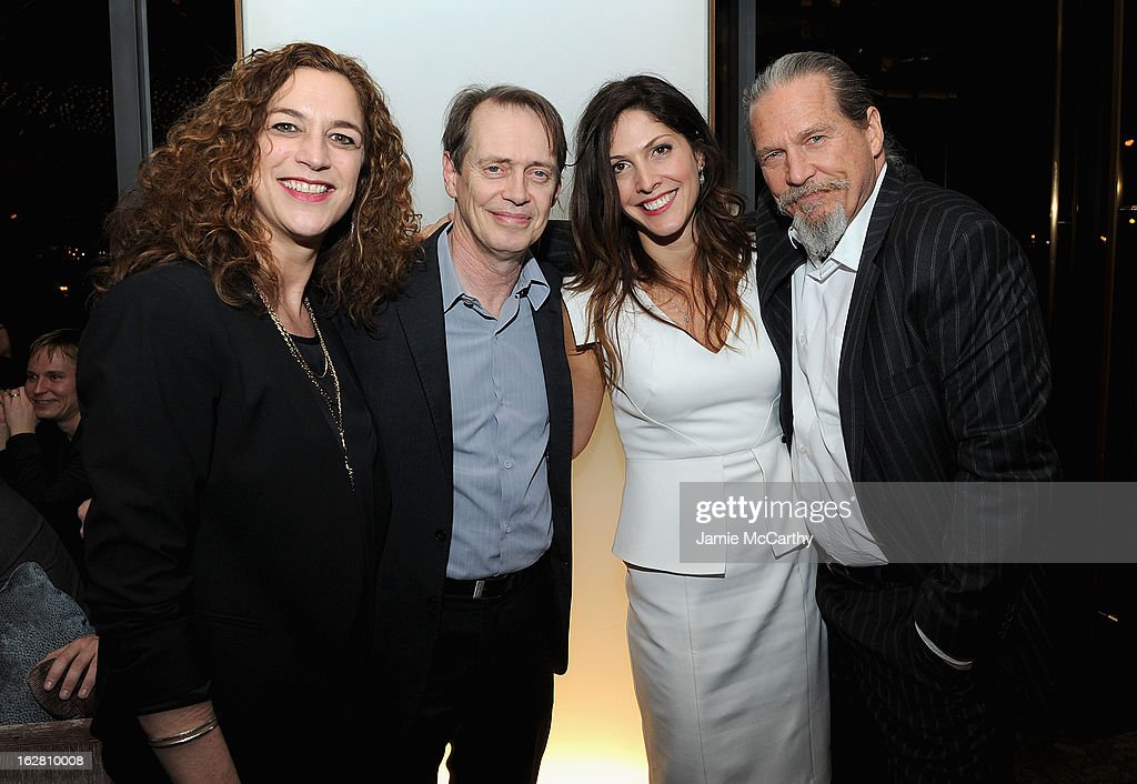 Co producer/director Kristi Jacobson,<a gi-track='captionPersonalityLinkClicked' href=/galleries/search?phrase=Steve+Buscemi&family=editorial&specificpeople=207107 ng-click='$event.stopPropagation()'>Steve Buscemi</a>, Co producer/director <a gi-track='captionPersonalityLinkClicked' href=/galleries/search?phrase=Lori+Silverbush&family=editorial&specificpeople=772818 ng-click='$event.stopPropagation()'>Lori Silverbush</a> and <a gi-track='captionPersonalityLinkClicked' href=/galleries/search?phrase=Jeff+Bridges&family=editorial&specificpeople=201735 ng-click='$event.stopPropagation()'>Jeff Bridges</a> attend the Bank Of America And Food & Wine With The Cinema Society Screening Of 'A Place At The Table' After Party at Riverpark on February 27, 2013 in New York City.