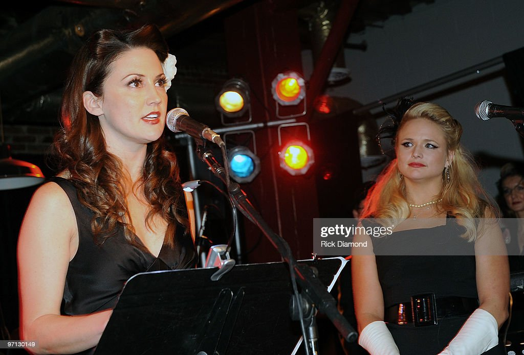 Co Songwriter Natalie Hemby and Singer/Co Songwriter <a gi-track='captionPersonalityLinkClicked' href=/galleries/search?phrase=Miranda+Lambert&family=editorial&specificpeople=571972 ng-click='$event.stopPropagation()'>Miranda Lambert</a> pose during BMI Honors <a gi-track='captionPersonalityLinkClicked' href=/galleries/search?phrase=Miranda+Lambert&family=editorial&specificpeople=571972 ng-click='$event.stopPropagation()'>Miranda Lambert</a>'s for her First #1single with a 1940's style bash and a few hundred of her friends at The Cellar on February 26, 2010 in Nashville, Tennessee.