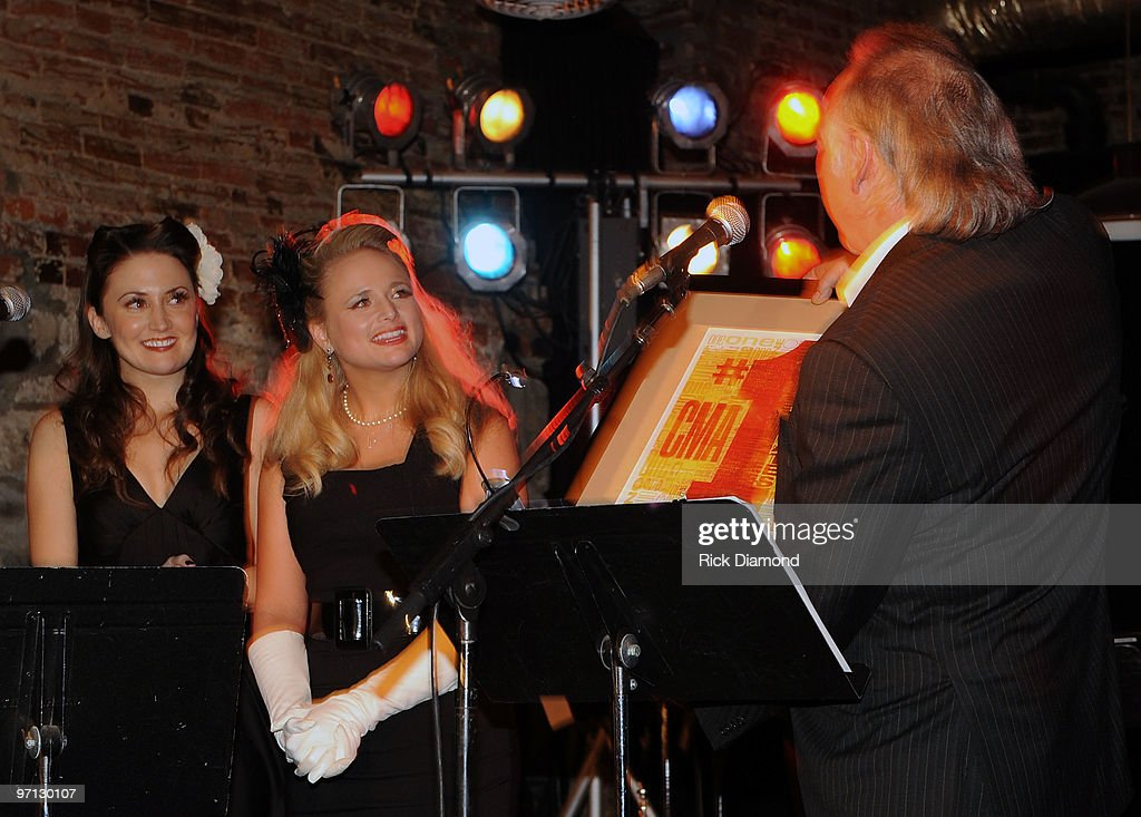 Co Songwriter Natalie Hemby, Singer/Co Songwriter Miranda Lambert and CMA's Steve Moore during BMI Honors Miranda Lambert's for her First #1single with a 1940's style bash and a few hundred of her friends at The Cellar on February 26, 2010 in Nashville, Tennessee.