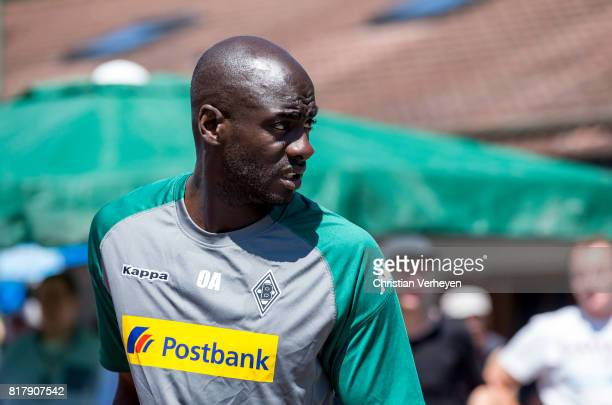 Co Trainer Otto Addo of Borussia Moenchengladbach during a training session at the Training Camp of Borussia Moenchengladbach on July 18 2017 in...