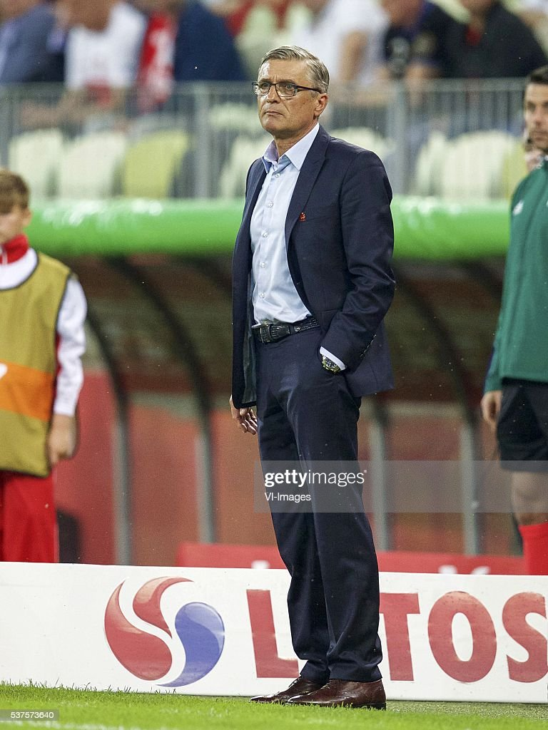 coach Adam Nawalka of Poland during the International friendly match between Poland and Netherlands on June 1, 2016 at the Gdansk Arena in Gdansk, Poland.