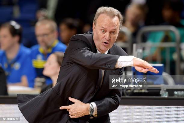 coach Aito Garcia Reneses of Alba Berlin during the game between Alba Berlin and the Oettinger Rockets Gotha on october 21 2017 in Berlin Germany