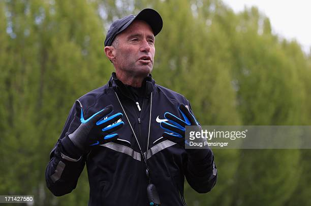 Coach Alberto Salazar talks about the Nike's Oregon Project on the Nike campus on April 13 2013 in Beaverton Oregon