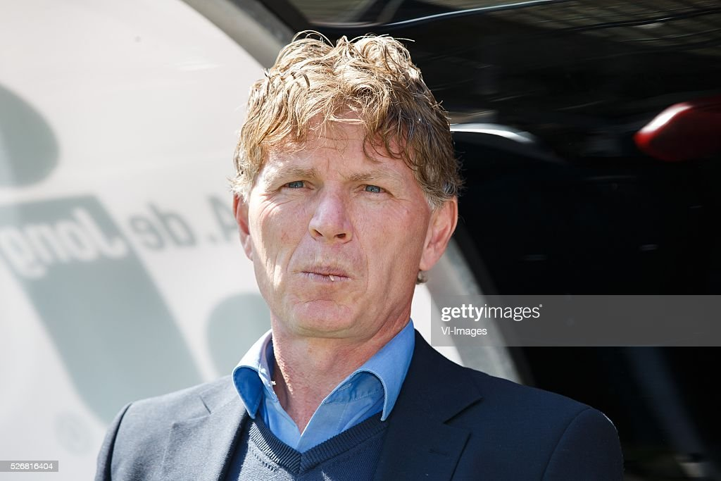 coach Alfons Fons Groenendijk of Excelsior during the Dutch Eredivisie match between Excelsior Rotterdam and PEC Zwolle at Woudenstein stadium on May 01, 2016 in Rotterdam, The Netherlands