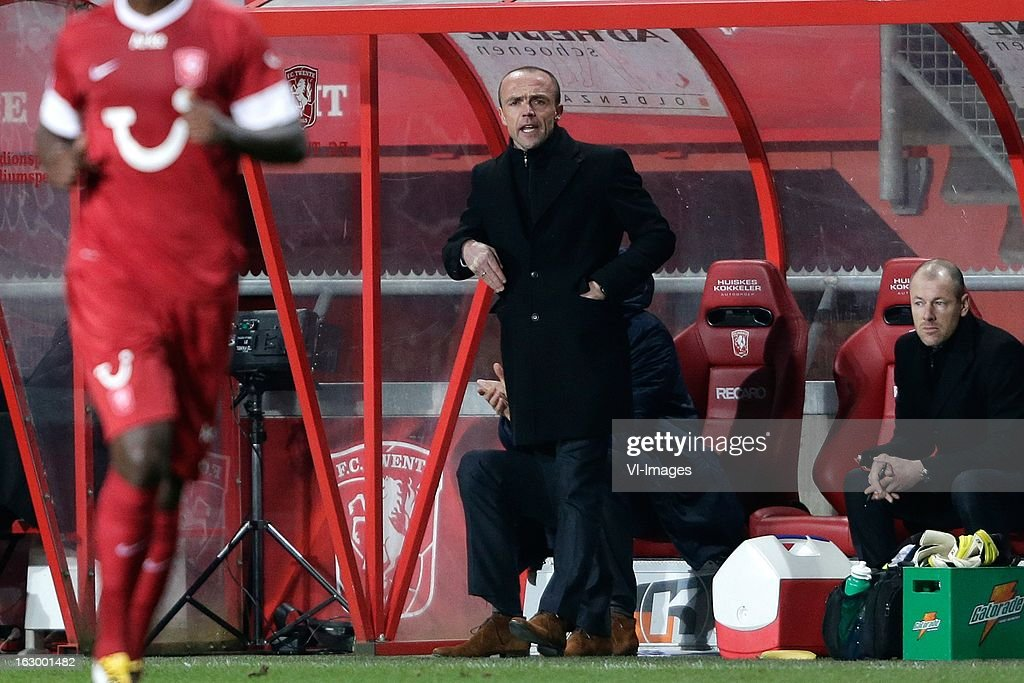 Coach Alfred Schreuder of FC Twente during the Dutch Eredivisie match between FC Twente and Ajax Amsterdam at the Grolsch Veste on march 02, 2013 in Enschede, The Netherlands