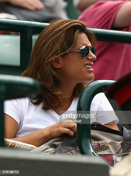 Coach Amelie Mauresmo looks on ahead of Andy Murray of Great Britain's Gentlemen's Singles second round match against Robin Haase of Netherlands...