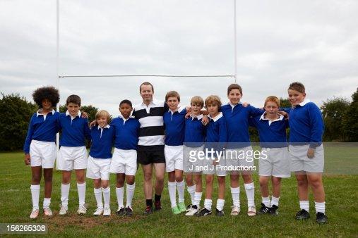 Coach and children : Stock Photo