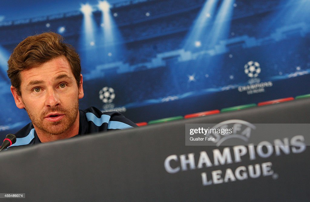Coach Andre VillasBoas during the Champions League Press Conference on September 15 2014 in Lisbon Portugal