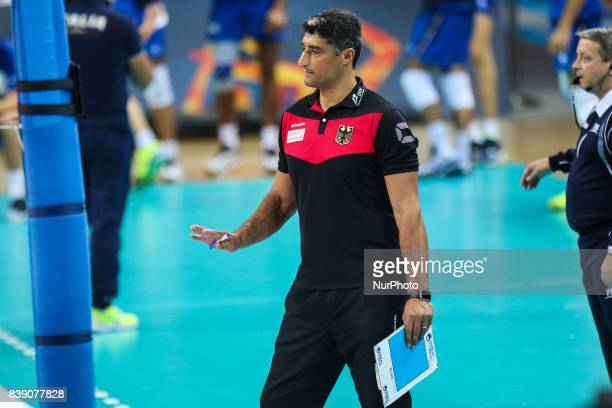 Coach Andrea Giani during Volleyball European Championships match between Italy and Germany on 25 August 2017 in Szczecin Poland