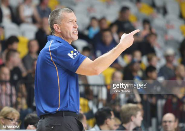 Coach Andrej Lemanis during the match between the Brisbane Bullets and China at the Gold Coast Sports Leisure Centre on July 18 2017 in Gold Coast...