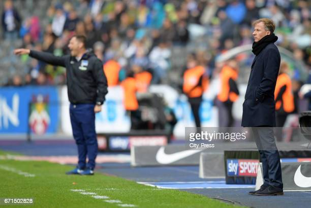 Coach Andries Jonker of VfL Wolfsburg during the game between Hertha BSC and dem VfL Wolfsburg on april 22 2017 in Berlin Germany
