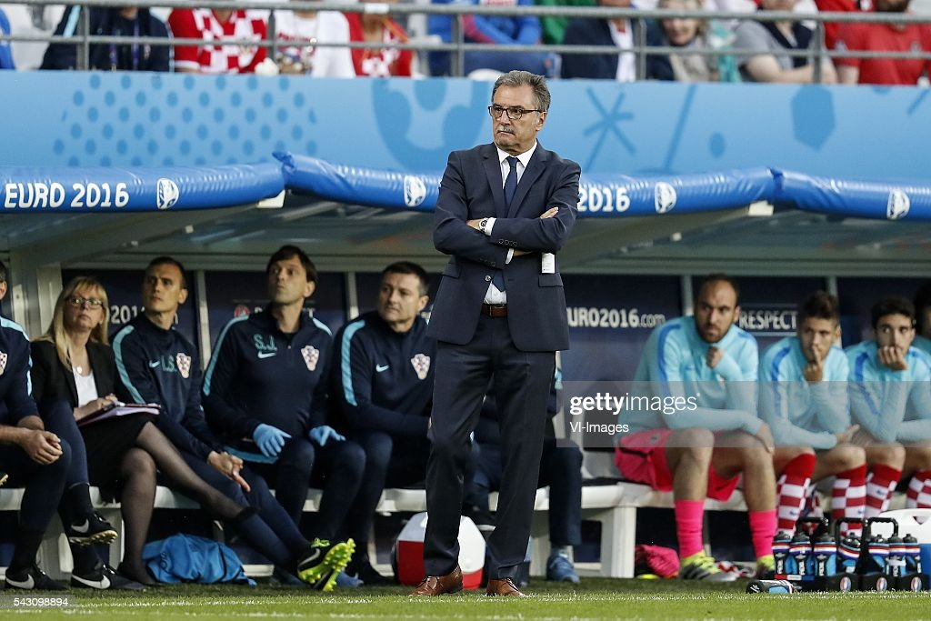 coach Ante Cacic of Croatia during the UEFA Euro 2016 round of 16 match between Croatia and Portugal on June 25, 2016 at the stade Bollaert-Delelis in Lens, France.
