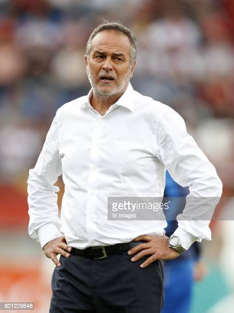 coach Antonio Cabrini of Italy Women during the UEFA WEURO 2017 Group B group stage match between Germany and Italy at Koning Willem II stadium on...