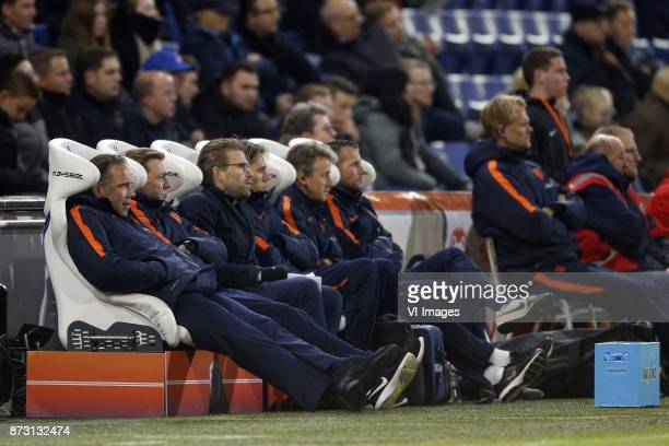 Coach Art Langeler of Jong Oranje during the EURO U21 2017 qualifying match between Netherlands U21 and Andorra U21 at the Vijverberg stadium on...