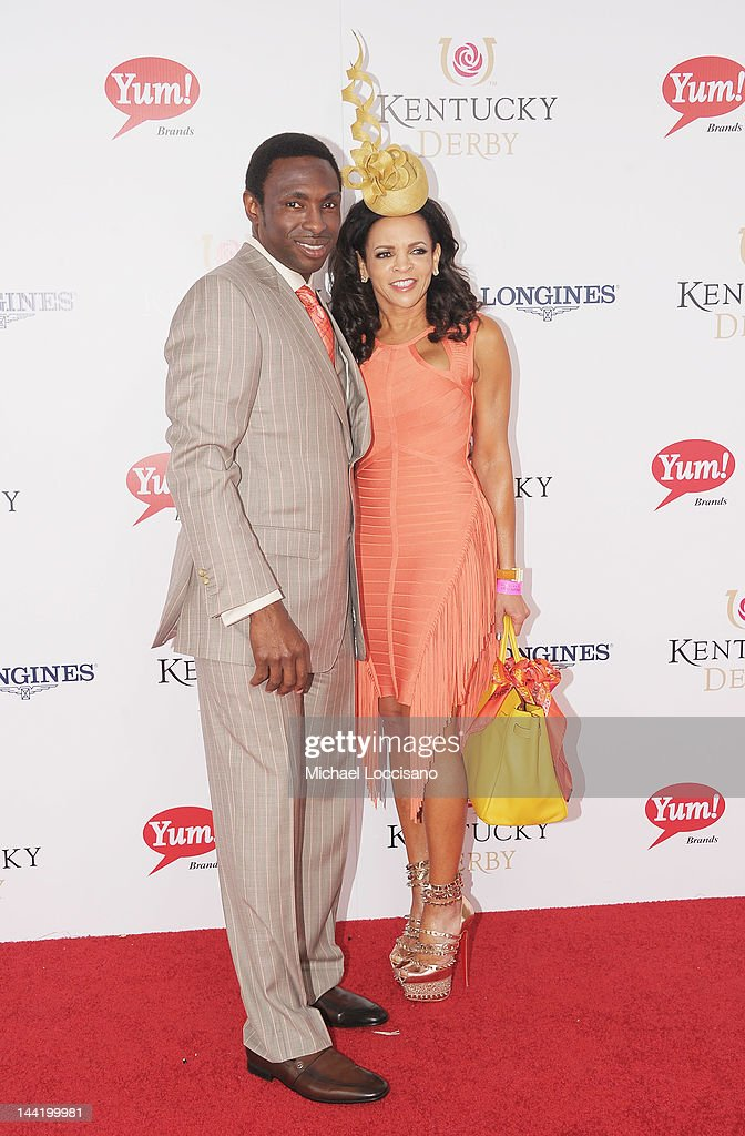Coach Avery Johnson and his wife Cassandra Johnson attend the 138th Kentucky Derby at Churchill Downs on May 5 2012 in Louisville Kentucky
