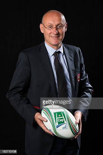 Coach Bernard Laporte of RC Toulon poses during the Heineken Cup Launch at France Television HQ on September 24 2012 in Paris France