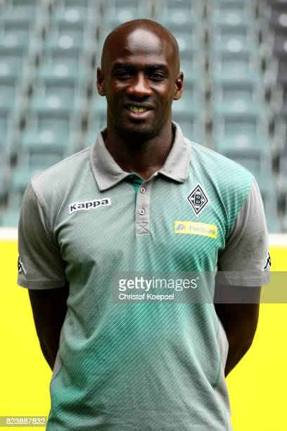 Coach between profis and U23 team Otto Addo of Borussia Moenchengladbach poses during the team presentation at Borussia Park on July 28 2017 in...