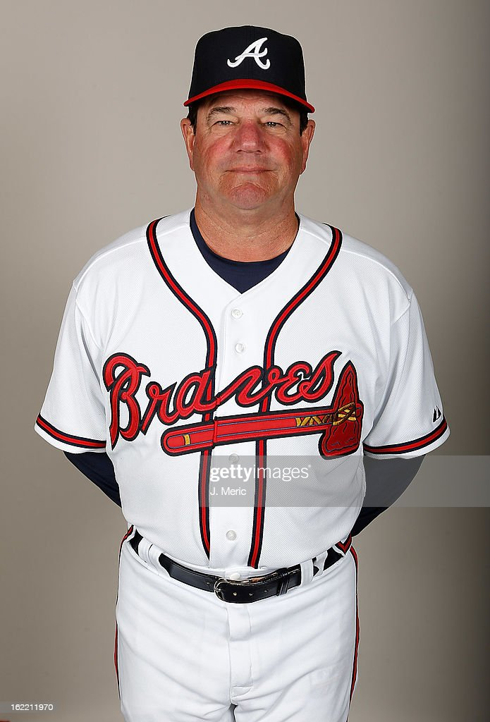 Coach Carlos Tosca #18 of the Atlanta Braves poses for a photo during photo day at Champion Stadium at the ESPN Wide World of Sports Complex at Walt Disney World on February 20, 2013 in Lake Buena Vista, Florida.