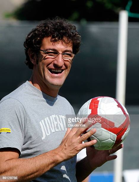 Coach Ciro Ferrara of Juventus during the friendly match between Juventus and Vicenza at the'Briamasco' stadium on July 21 2009 in Trento Italy