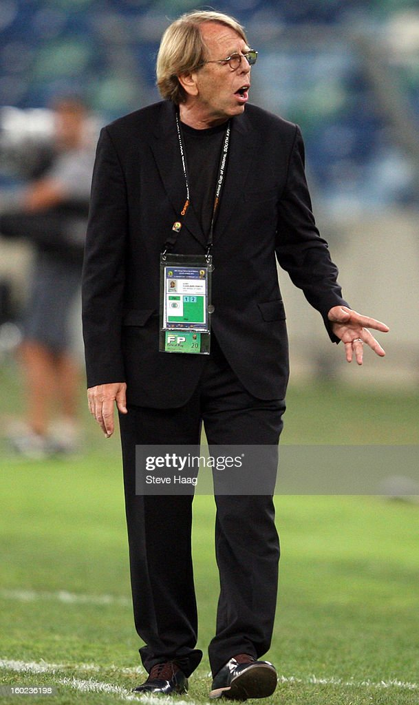 Coach Claude Le Roy during the 2013 African Cup of Nations match between Congo DR and Mali at Moses Mahbida Stadium on January 28, 2013 in Durban, South Africa.