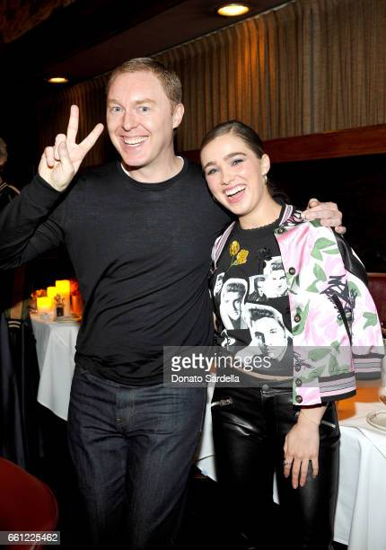 Coach Creative Director Stuart Vevers and actor Haley Lu Richardson attend the Coach Rodarte celebration for their Spring 2017 Collaboration at Musso...