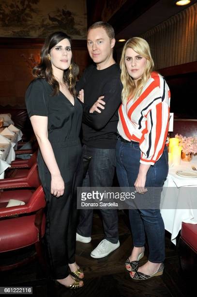 Coach Creative Director Stuart Vevers and Rodarte CoFounders Laura Mulleavy and Kate Mulleavy attend the Coach Rodarte celebration for their Spring...
