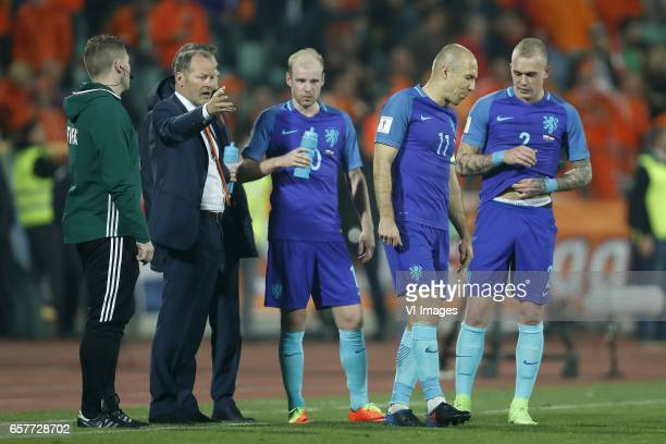 coach Danny Blind of Holland Davy Klaassen of Holland Arjen Robben of Holland Rick Karsdorp of Hollandduring the FIFA World Cup 2018 qualifying match...