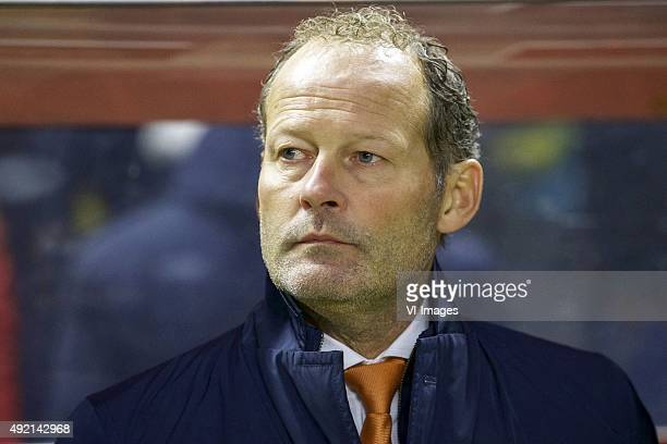 coach Danny Blind of Holland during the EURO 2016 qualifying match between Kazachstan and The Netherlands on October 10 2015 at the Astana Arena in...