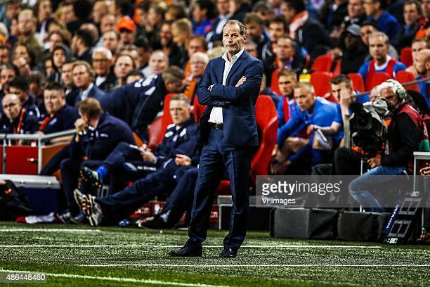 coach Danny Blind of Holland during the UEFA Euro 2016 qualifying match between Netherlands and Iceland on September 3 2015 at the Amsterdam Arena in...