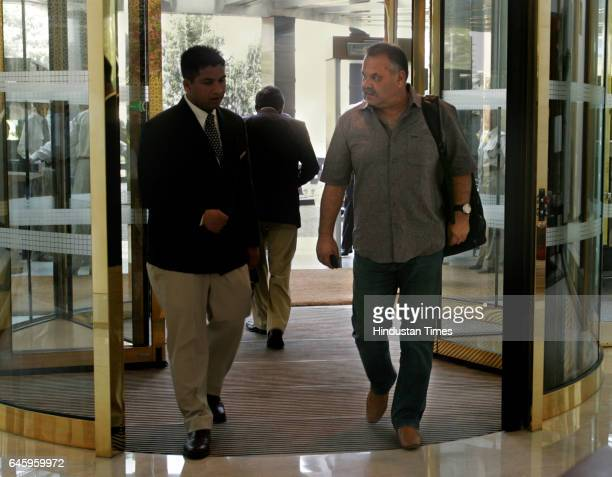 KKR coach Dav Whatmore arrives at the Trident hotel for the IPLIII auction in Mumbai on Tuesday