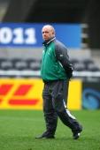 Coach Declan Kidney of Ireland looks on during an Ireland IRB Rugby World Cup 2011 captain's run at Otago Stadium on October 1 2011 in Dunedin New...