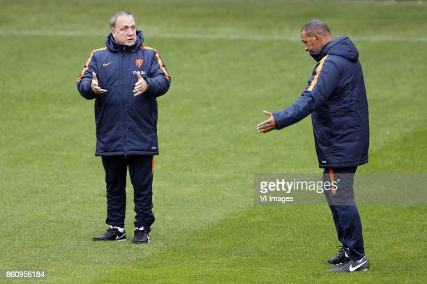coach Dick Advocaat of Holland assistant trainer Ruud Gullit of Holland during a training session prior to the FIFA World Cup 2018 qualifying match...