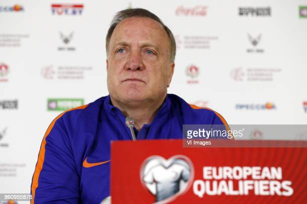 coach Dick Advocaat of Holland during a training session prior to the FIFA World Cup 2018 qualifying match between Belarus and Netherlands on October...