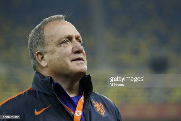 coach Dick Advocaat of Holland during a training session prior to the friendly match between Romania and The Netherlands on November 13 2017 at Arena...