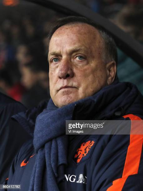 coach Dick Advocaat of Holland during the FIFA World Cup 2018 qualifying match between Belarus and Netherlands on October 07 2017 at Borisov Arena in...