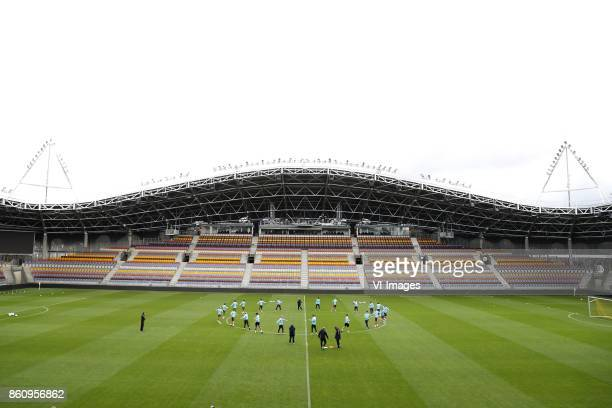 coach Dick Advocaat of Holland with Dutch team during a training session prior to the FIFA World Cup 2018 qualifying match between Belarus and...