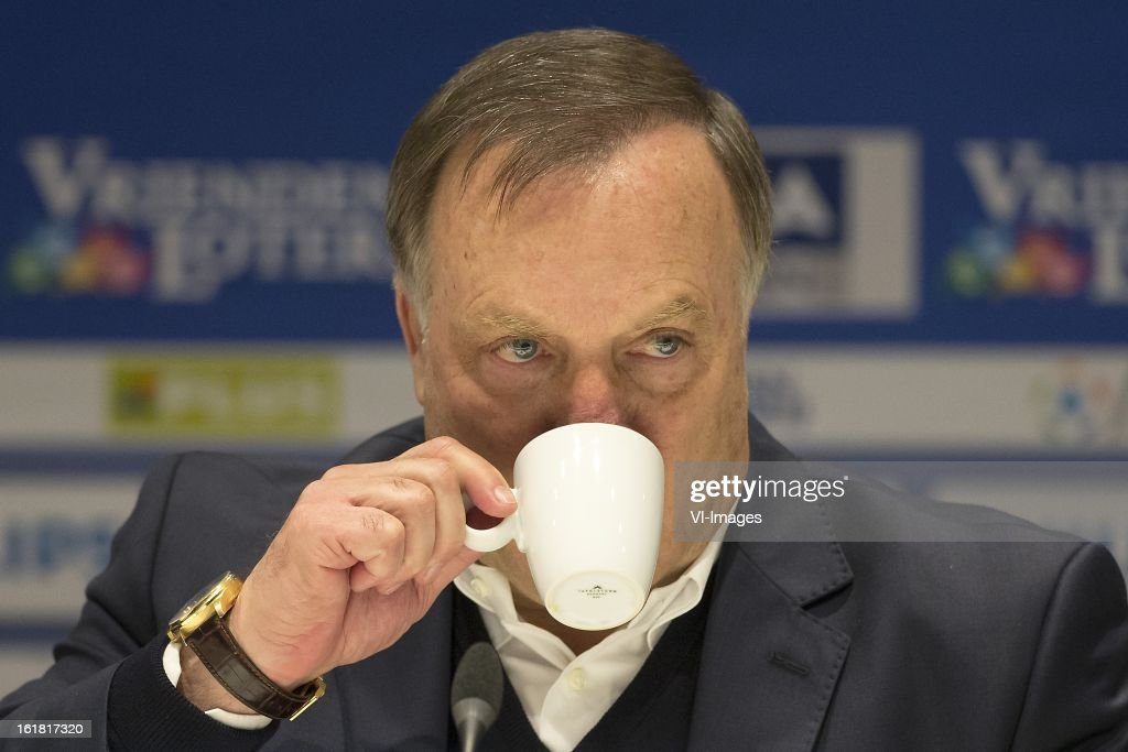 Coach Dick Advocaat of PSV during the Dutch Eredivisie match between PSV Eindhoven and FC Utrecht at the Philips Stadium on february 16, 2013 in Eindhoven, The Netherlands