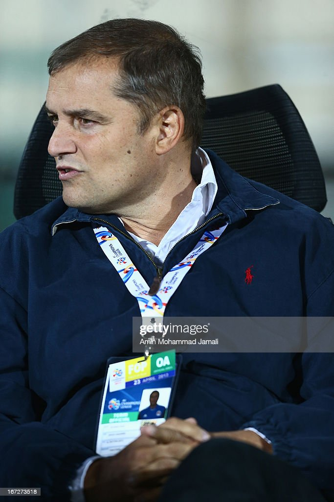 Coach Diego Aquirre of Al Rayyan looks on during the AFC Champions League Group D match between Esteghlal and Al Rayyan at Azadi Stadium on April 23, 2013 in Tehran, Iran.
